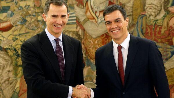 İspanya Kralı 6. Felipe- PSOE lideri Pedro Sanchez - Sputnik Türkiye