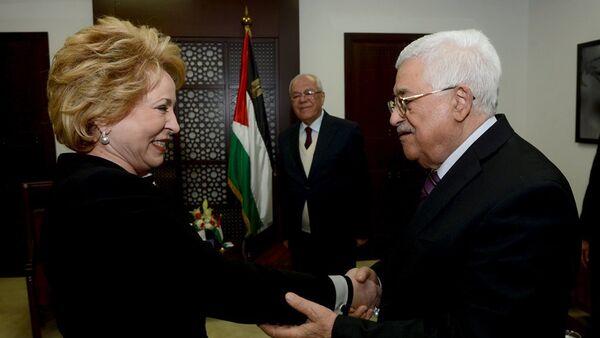 Valentina Matviyenko - Mahmud Abbas - Sputnik Türkiye