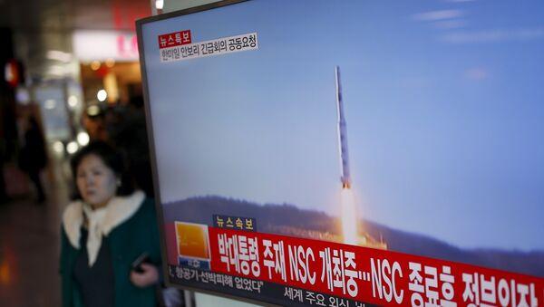 Kuzey Kore uzun menzilli füze ile uydu fırlattığını açıkladı - Sputnik Türkiye