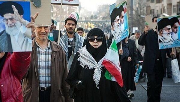 İran'da İslam Devrimi'nin 37'nci yılı kutlandı - Sputnik Türkiye