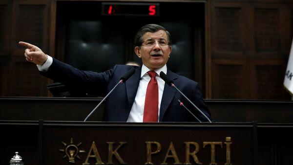 AK Parti Genel Başkanı ve Başbakan Ahmet Davutoğlu, TBMM'de AK Parti Grup Toplantısı'na katılarak konuşma yaptı. - Sputnik Türkiye