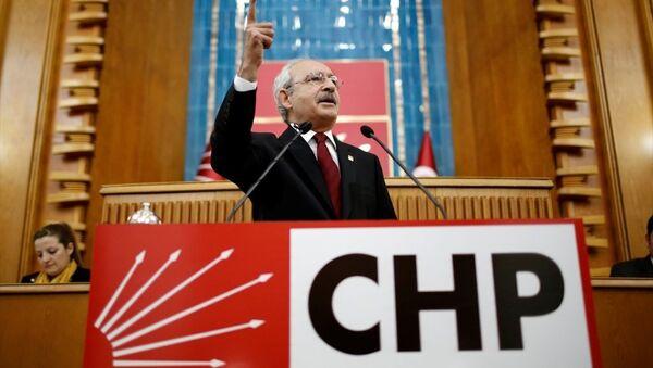 CHP Genel Başkanı Kemal Kılıçdaroğlu, partisinin TBMM Grup Toplantısına katılarak konuşma yaptı. - Sputnik Türkiye