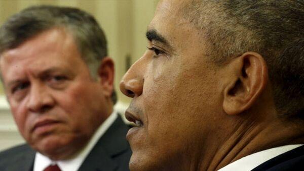 Barack Obama - Kral Abdullah - Sputnik Türkiye