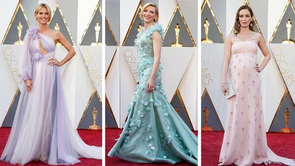 Heidi Klum, Cate Blanchett  ve Emily Blunt Oscar ödül töreninde - Sputnik Türkiye