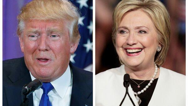 Donald Trump- Hillary Clinton - Sputnik Türkiye