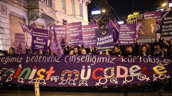 8 Mart Feminist Gece Yürüyüşü - Sputnik Türkiye