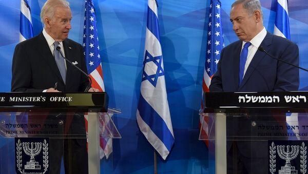 ABD Başkan Yardımcısı Joe Biden- İsrail Başbakanı Benyamin Netanyahu  - Sputnik Türkiye
