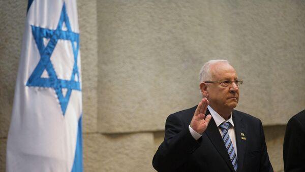 Incoming Israeli President Reuven Rivlin is sworn in during a ceremony at the Knesset, Israel's parliament, in Jerusalem - Sputnik Türkiye
