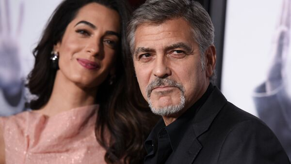 Amal Clooney- George Clooney - Sputnik Türkiye