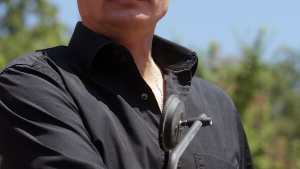 Vladimir Putin Sivastopol'daki motosiklet fuarına katıldı, 24 Haziran 2010 - Sputnik Türkiye