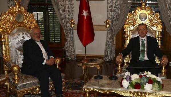 İran Dışişleri Bakanı Muhammed Cevad Zarif- Türkiye Cumhurbaşkanı Recep Tayyip Erdoğan - Sputnik Türkiye
