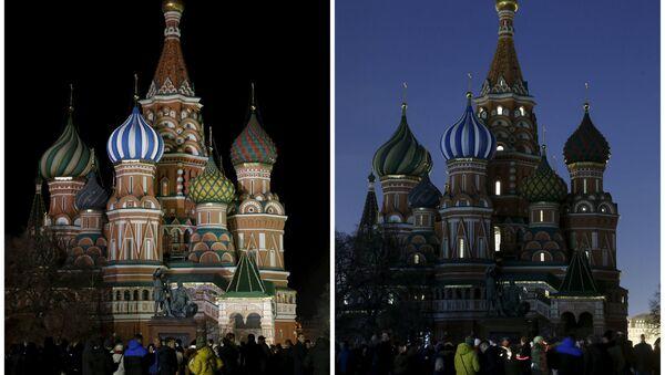 Moskova'da Dünya Saati etkinliği - Sputnik Türkiye