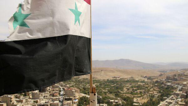 Suriye bayrağı - Malula kenti - Sputnik Türkiye