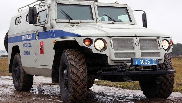 Rusya'da polislerin kullandığı GAZ-233036 'Tigr' aracı. - Sputnik Türkiye