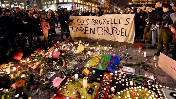 Brüksel'de saldırı kurbanları anılıyor. - Sputnik Türkiye