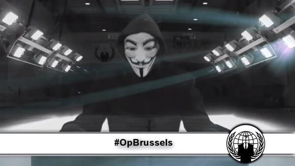 Anonymous'tan Brüksel Operasyonu - Sputnik Türkiye