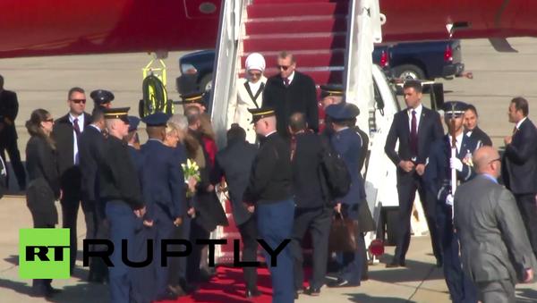 Cumhurbaşkanı Erdoğan, Nükleer Güvenlik Zirvesi'ne katılmak için Washington'a gitti - Sputnik Türkiye