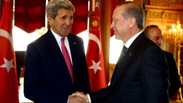 John Kerry - Tayyip Erdoğan - Sputnik Türkiye