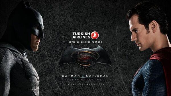 Cumhurbaşkanı Recep Tayyip Erdoğan'ın ABD'ye giderken THY Başkanı İlker Aycı'yı 'Batman v Superman Adaletin Şafağı' filmine sponsor oldukları için azarladığı ortaya çıktı. - Sputnik Türkiye
