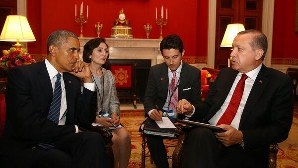 ABD Başkanı Barack Obama- Türkiye Cumhurbaşkanı Recep Tayyip Erdoğan - Sputnik Türkiye