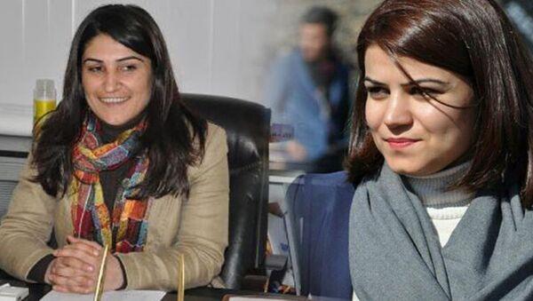 DBP eş başkanları Leyla Salman ile Zeynep Sipçik - Sputnik Türkiye