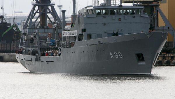 Letonya Sahil Güvenliği'ne ait bir gemi - Sputnik Türkiye