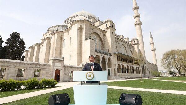 Başbakan Ahmet Davutoğlu, Süleymaniye Camisi'ndeki Mimar Sinan'ı anma etkinliğine katıldı - Sputnik Türkiye