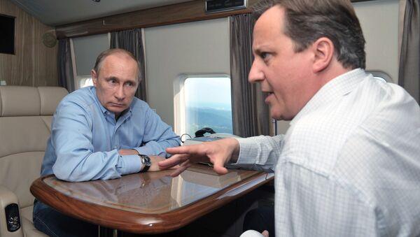 David Cameron - Vladimir Putin / 10 Mayıs 2013 - Sputnik Türkiye