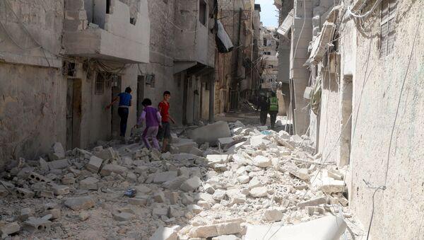 Halep'teki El Maysar mahallesi. - Sputnik Türkiye