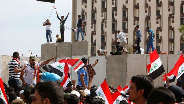 Irak'ta Sadr yanlıları Yeşil Bölge'de eylemde - Sputnik Türkiye