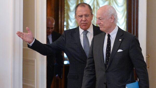 Sergey Lavrov - Staffan De Mistura - Sputnik Türkiye