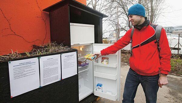 Prag'da umumi 'buzdolabı' - Sputnik Türkiye