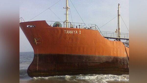 Liberya'da kıyıya vuran 'hayalet gemi' Tamaya 1 - Sputnik Türkiye