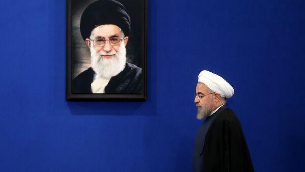 İran Cumhurbaşkanı Hasan Ruhani- Dini lider Ayetullah Ali Hamaney - Sputnik Türkiye