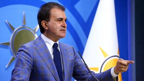 AK Parti Genel Başkan Yardımcısı ve Parti Sözcüsü Ömer Çelik, parti genel merkezinde basın toplantısı düzenledi. - Sputnik Türkiye