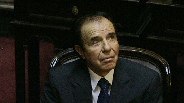 Carlos Menem, expresidente de Argentina - Sputnik Türkiye