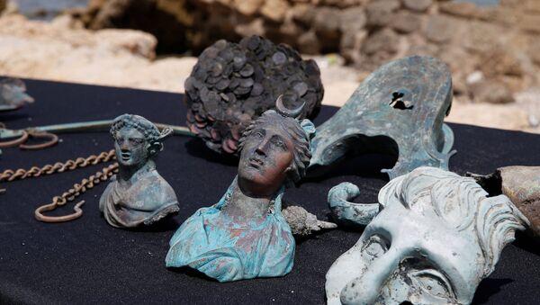İsrail açıklarında Geç Roma İmparatorluk Dönemi sırasında batan bir ticaret gemisinin kalıntıları bulundu. - Sputnik Türkiye
