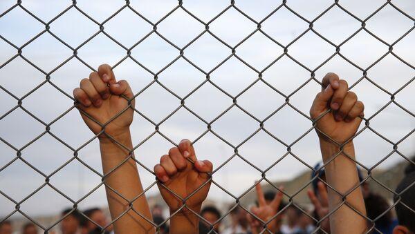 Nizip'teki sığınmacı kampındaki çocuklar. - Sputnik Türkiye