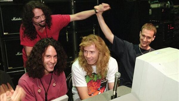 Megadeth'in eski davulcusu Nick Menza - Sputnik Türkiye
