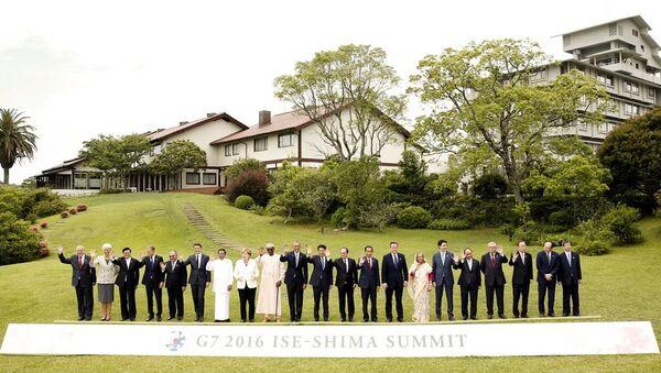 G7 Zirvesi aile fotoğrafı - Sputnik Türkiye