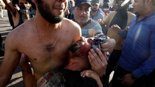 Bağdat'taki hükümet karşıtı eylemlere polis müdahale etti. - Sputnik Türkiye
