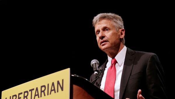 ABD'de Libertenyen Parti'nin başkan adayı Gary Johnson - Sputnik Türkiye