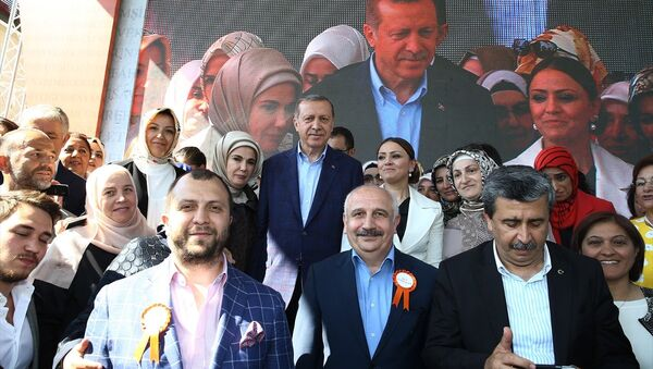 Cumhurbaşkanı Recep Tayyip Erdoğan KADEM'in yeni hizmet binasının açılışına katıldı. - Sputnik Türkiye
