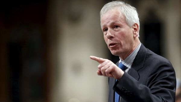 Canada's Foreign Minister Stephane Dion speaks during Question Period in the House of Commons on Parliament Hill in Ottawa, Canada - Sputnik Türkiye