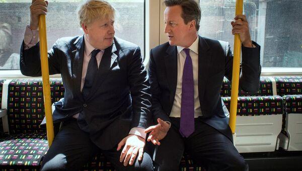 Boris Johnson - David Cameron  - Sputnik Türkiye