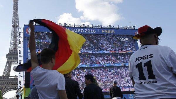 EURO 2016'daki Alman taraftarlar - Sputnik Türkiye