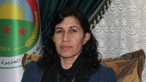 Rojava ve Kuzey Suriye Kurucu Meclisi Demokratik Federal Sistemi Eş Başkanı Hediye Yusuf - Sputnik Türkiye