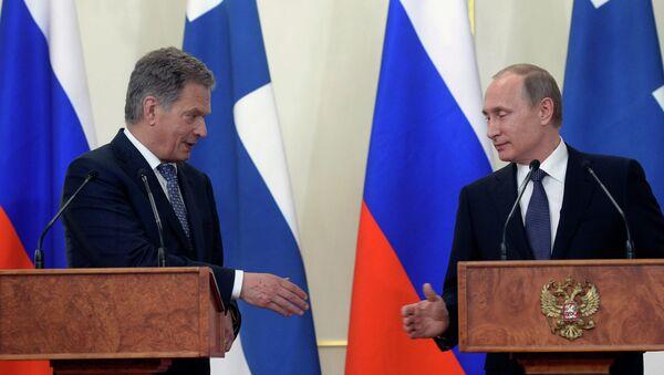 Rusya Devlet Başkanı Vladimir Putin ve Finlandiya Cumhurbaşkanı Sauli Niinistö - Sputnik Türkiye