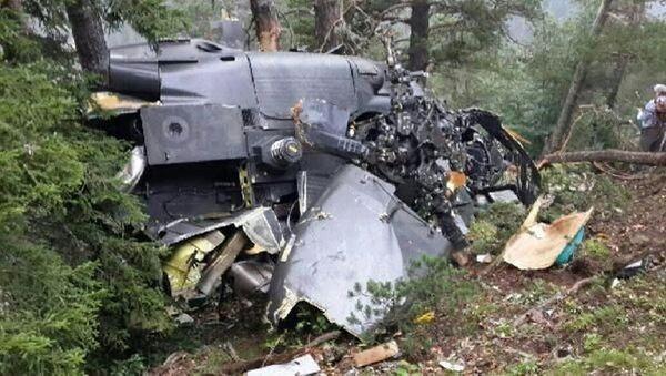 Giresun'da askeri helikopter düştü - Sputnik Türkiye
