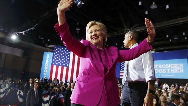 Barack Obama - Hillary Clinton - Sputnik Türkiye